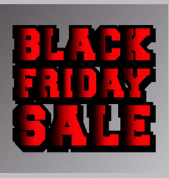 black friday sale typography design for cover vector image