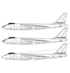 boeing b-47 stratojet vector image
