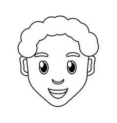 Boy face cartoon vector