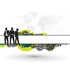 businessman background vector image