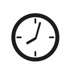 Clock face icon on white background vector