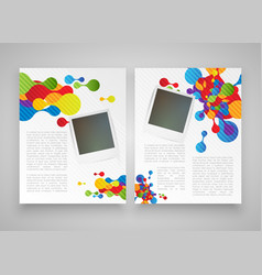 colorful realistic templates for advertising or vector image