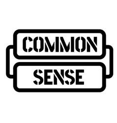 Common sense stamp vector