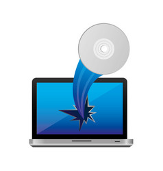 computer camera with hole icon vector image