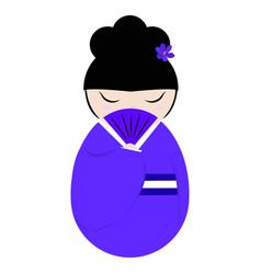 Cute geisha character vector