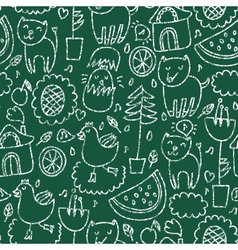 Cute seamless chalkboard pattern vector