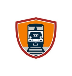 Diesel Train Freight Rail Crest Retro vector image