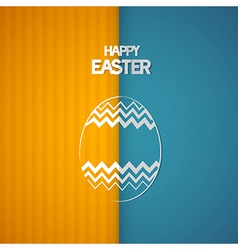 Easter Retro Background with Abstract egg Symbol vector image
