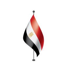 Egypt flag on a white vector