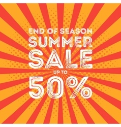 End of season summer big sale banner vector image