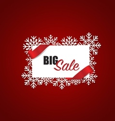 End of year sale Christmas sale design template vector image