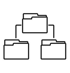 folder network icon outline style vector image