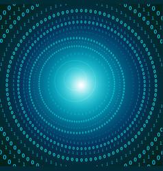 Futuristic virtual digital tunnel vector