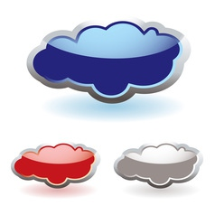 Glass fluffy clouds vector