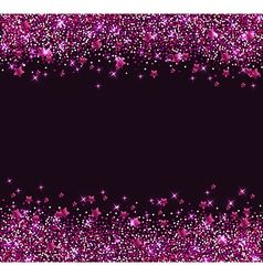 Glitter star background vector