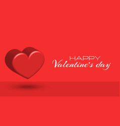 happy valentines day festive 3d scene for vector image