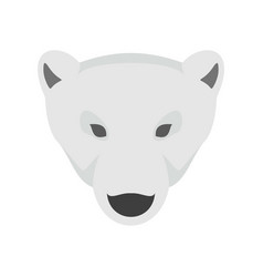 head of polar bear icon flat style vector image