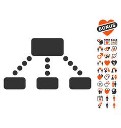 hierarchy icon with dating bonus vector image