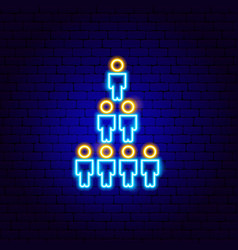 Human population neon sign vector