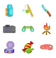 Huntsman icons set cartoon style vector