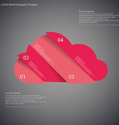 Infographic template with cloud divided to four vector