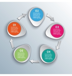 Infographic workflow design elements with arrows vector