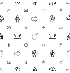 intelligence icons pattern seamless white vector image