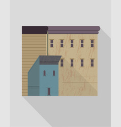 isolated buildings with small windows vector image
