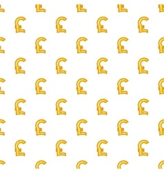 Italian lira currency symbol pattern cartoon style vector