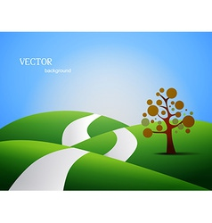 land scape vector image