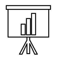 Line statistics bar precentation graphic growing vector