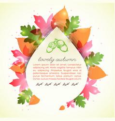 Lovely autumn greeting letter vector