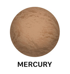 mercury planet icon realistic style vector image