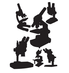 microscopes vector image