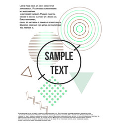 minimum geometric coverage vector image