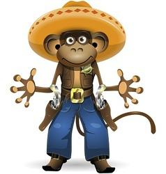 monkey sheriff vector image