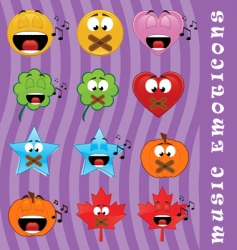 music emoticons vector image vector image
