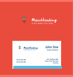 network logo design with business card template vector image