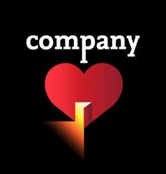 Open your heart logo vector