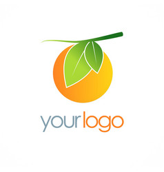 Orange fruit organic logo vector