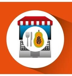 Papaya online shopping app vector
