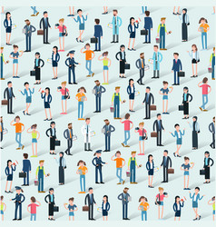 people crowd eamless vector image
