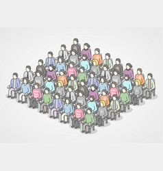 People sitting in chairs on audience vector