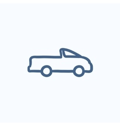 Pick up truck sketch icon vector image