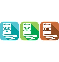 Pollution and Danger Icon Set vector image