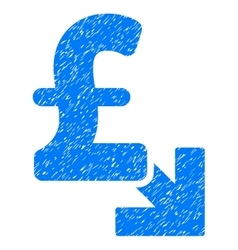Pound Decrease Grainy Texture Icon vector
