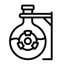 Radiation flask icon outline style vector