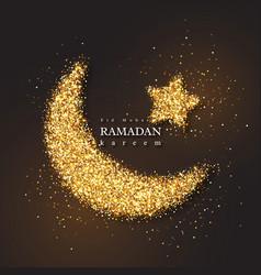 Ramadan kareem glitter holiday design vector