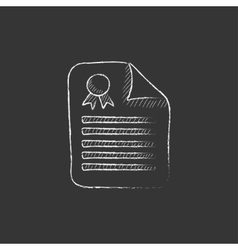 Real estate contract Drawn in chalk icon vector