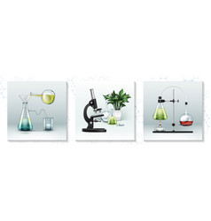 realistic laboratory research concept vector image
